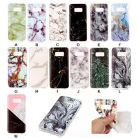 Wholesale New S4 Cases For S3 - New TPU Marble Stripe Case for Samsung S8 Edge S7 Edge S6 Edge S5 S4 S3 Back Cover