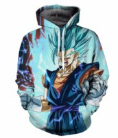 Wholesale Newest Style Mens Hoodies - Newest Fashion Womens Mens Vegetto Blue Dragon Ball Z Harajuku Style Funny 3D Print Casual Hoodies Unisex Plus Size KK32