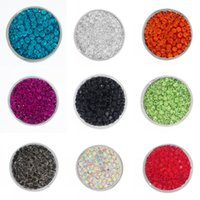 Wholesale Colorful Buttons For Sale - Hot Sale Fashion Colorful 20mm Snap Button Charm Rhinestone Snaps Jewelry White K Bottom Fit DIY Bracelets For Women Jewelry N218S