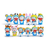 Аниме Doraemon Action Figure Toys, 12 Китайский зодиакальный созвездие Cosplay Doraemon Figures Kid Toys, Anime Brinquedos