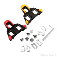 Wholesale Bicycle Pedal Accessories - Hot Sale Road Bicycle Self-locking Cleats Cycling Shoes Accessories Bike Pedal Lock Card SM-SH11 SPD-SL Red Yellow Bike Shoes Lock