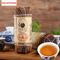 Wholesale Nature Tea - C-HC006 Chinese Green Food Black tea 200g Premium Nature Auhua Brick Tea Striped Delicious Tea