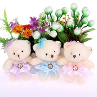 Wholesale Flower Toy For Babies - NEW cute lovely teddy bear baby girl plush toys doll kid doll flower bouquets bear For Christmas Gift doll cute bears WB005