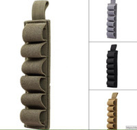 Wholesale Cartridge For Gun - Airsoft Tactical Hunting Shotgun 6 Shells Carrier Holster 6 Round for 12Ga 20Ga Paintball Rifle Gun Ammo Carrier Pouch Cartridge Holder