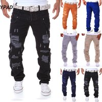 Wholesale Famous Stuff - Wholesale-YPAD 2016 NEW real stuff italy hip hop brand ripped jeans denim Men Jeans,male famous brand men's jeans straight trousers