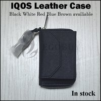 Wholesale Ego H - E-cigs IQOS leather case vape ego zipper carry cases for electronic cigarette qios dna 200 dab pico osub ipv6x H-priv icare 18650 battery