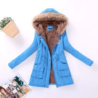 Wholesale Women Winter Fur Hoodie - Winter Jacket Women Parka Coat Winter Women Casual Outwear Military Hoodies Coat Fur Coats Female Clothes