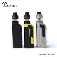 Wholesale metal warriors - 100% Original Tesla Warrior 85W Starter Kit VW TC 18650 Battery Box Mod H8 Mini Tank Atomizer