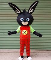 mascote, coelho, coelho, traje venda por atacado-2017 new Frete grátis bing bunny Mascot Costume Personalizado Adulto Tamanho coelho Personagem de Banda Desenhada Mascotte LLFA1011