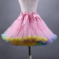 Wholesale Yellow Cute Skirt - New Arrival Cute Colorful Women Petticoat Skirt Ball gown Girl Skirt Dance Skirts Cheap Wedding Accessories Underskirt Waist 58--112 cm