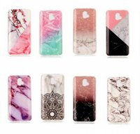 Wholesale Paint For Stone - Marble Stone image Painted Soft TPU Case For Samsung S8 S9 Plus Huawei LG K10 K8 2017 ZTE V8PRO Back Cover Free DHL