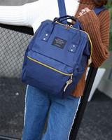 Wholesale Vintage Satchel Bags For Men - new Anello Canvas School Backpack For Teenagers New Fashion Colorful Handbag leisure Shoulder Crossbody Bags Vintage Satchel backpack