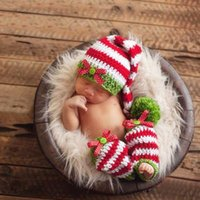 Wholesale Long Tail Crochet - Crochet Lovely Long Tail Cap Photography Props Design Baby Sock Newborn Photo Props Knitted Baby Costume Crochet Baby Sock BP070