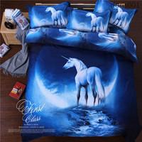 cama de espacio reina al por mayor-Grado superior espesar Hipster Galaxy 3D Juego de cama Universo Espacio exterior Funda nórdica temática Sábana funda de almohada tamaño queen envío gratis