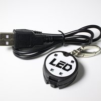 Wholesale Led Dog Safety Tags - New High quality USB rechargeable pet accessories led light dog tag bag light safety in the dark