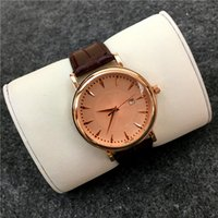Wholesale Business Classic Wristwatches - 2017 Man Military watch Genuine Leather Classic Casual wristwatch Gentleman watches Big Dial Business Top brand wholesale priceFree shipping