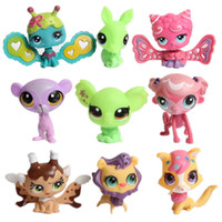 Wholesale 20pcs Mini lps Toys Figures LPS Animals Action Figure Toys Doll cm LPS Animals Loose Action Figures Collection Kids Gift Toy
