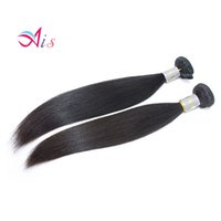 Wholesale hair weave heads for sale - 7A inches Peruvian Brazilian Hair Silky Straight Human Hair Weave Bundles Full Head Hair Extensions