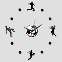 as pic sports wall clocks - real new arrival wall clock watch clocks diy home decoration fashion sport acrylic mirror the stickers living room hot sale