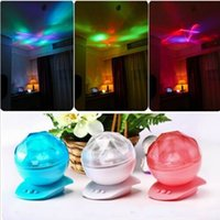 Vente en gros - Aurora LED Projection Lampe Changement de couleur Ocean Lighting Rainbow Waves Projector Northern Lights Saint Valentin Cadeau Romantique