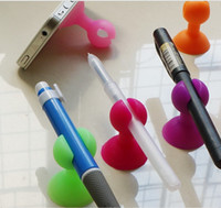 Wholesale Suction Ball Stand For Iphone - Rubber Silicone Ball Holder Octopus Suction Sucker Phone Desktop Stand Cradle For Iphone Elephone Xiaomi Meizu Samsung LG Lenovo