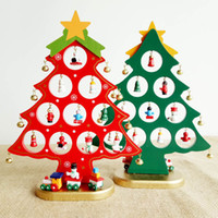 Wholesale Wholesale Decorative Accessories - Wooden Tabletop Christmas Tree Decorations Accessories DIY Handcrafted Decorative Tree Decoration Christmas Party Supplies Christmas Party