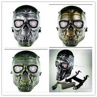 Wholesale Tactical equipment manufacturers selling outdoor activities terror Halloween scary ride armor The terminator mask