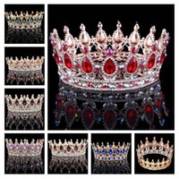 Wholesale Red Accesories - 2017 bride wedding accesories tiaras hair tiara crown Crystal Rhinestone Wedding accessories wholesale 17 color #1