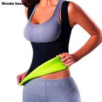 Wholesale Burns Vest - Wholesale- Drop Shipping Neoprene Sauna Waist Trainer Cincher Vest Hot Slimming Sweat Belt Fat Burning Body Shaper For Women Weight Loss