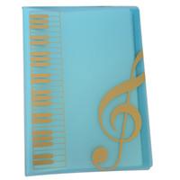 Wholesale Music Folders - Best Selling Pockets Music Sheet File Folder Music Holder A4 Size 40 Pockets - Blue