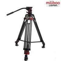Wholesale Camera Tripod Bearings - miliboo Aluminum Alloy MTT604A Portable Tripod For SLR Camera Tripod Fluid Head Monopod Load Bearing 10KG