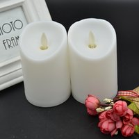 Wholesale paraffin lamps - Simulation Swinging Candle Electronic Lamp Slanting Mouth Candles Four Color Housings Creative Gift Birthday Wedding Supplies 4 1hj F R