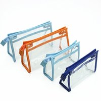 Wholesale Cheap Plastic Zippers - Hot sale Clear Transparent Plastic PVC Travel Cosmetic bag Make Up Organizer Bag Zipper 2 size Cheap Cosmetic Bags fedex Free