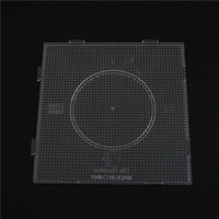 Wholesale Beads Pegboards - Wholesale-Free Shipping 2.6MM Square Puzzle Pegboards Patterns Template For Hama Perler Beads Creative DIY Handmade Toys For Kids