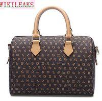 Wholesale Houndstooth Totes - lady real leather handbag women fashion leather handbag brand message bag