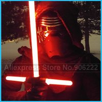 Wholesale Stretch Sound - 1 Piece Cosplay Kylo Ren Lightsaber LED Light Sound Cross lightsaber Toys for Boys NO Stretched Extended Blade