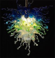 Wholesale Dining Room Decorative - LR470-Top Design Handmade Blown Glass Chandelier Light Hotel Lobby Decorative Murano Borosilicate Glass Chihuly Style Art Chandelier