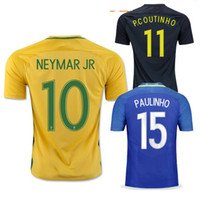 38df36f2c48 Soccer Men Short 2017 BRAZIL jersey soccer NEYMAR JR HOME maillot de foot  2016 17 18