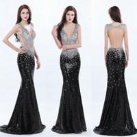 Vestido de fiesta negro y plata