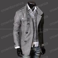 şık erkekler trençkotu toptan satış-Moda Şık erkek Trençkot, Kış Ceket, erkek orta-uzun ince Kruvaze Ceket, Palto yün Giyim M-XXXL YENİ ARIZA! Yüksekliği