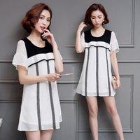 Wholesale Women Sheer Lace Apparel - women loose summer thin dress plus size XL 2XL 3XL 4XL 5XL Ruffle lace solid fashion dress casual loose dress quality women apparel