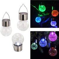 Wholesale Color Change Outdoor Light - 4pcs Solar Power LED Light Waterproof Color Changing LED lamp Ball Lighting Outdoor Hanging Garden Light Countryard Decoration