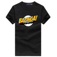 Wholesale Bazinga Shirt - Wholesale- Promotion Bazinga Symbol print Men's T-shirt Cotton brand clothing 2017 Summer hip hop streetwear t shirt men homme clothing m