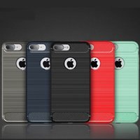 Wholesale Materials For Drawing - Fashion Shockproof Armor Case For Samsung Galaxy S8 S8Plus iPhone7 7plus Carbon Fiber TPU Drawing Material Mobile Phone Cases Cover Capa US1