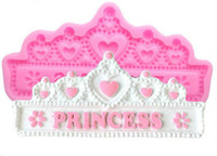 Wholesale Princess Molds - Princess Crown Silicone Cake Molds Wedding Cake Border Fondant Cake Decorating Tools Cupcake Chocolate Molds
