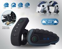 capacete moto piloto venda por atacado-Vnetphone v8 motocicleta capacete fones de ouvido bluetooth v3.0 intercom multi 6 cavaleiros interphone kits para motociclistas esquiadores eua / ue plugue 1200 m