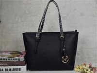 Wholesale Black Brown Leather Handbag - famous brand fashion women bags MICHAEL KALLY MK lady PU leather handbags famous Designer brand bags purse shoulder tote Bag female 6821