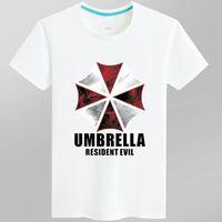Wholesale Black Gray White Umbrella - Umbrella T shirt Hot movie short sleeve Cool design tees Anti pilling clothing Men cotton Tshirt
