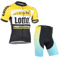 Wholesale Lotto Jersey - 2017 lotto Cycling Jerseys bib shorts set Bicycle Breathable sport wear cycling clothes Bicycle Clothing Lycra summer MTB Bike D0703