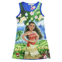 Wholesale Big Clothing For Kids - Moana Dresses for Girls Cosplay Dresses Halloween Party Big girl kids clothes
